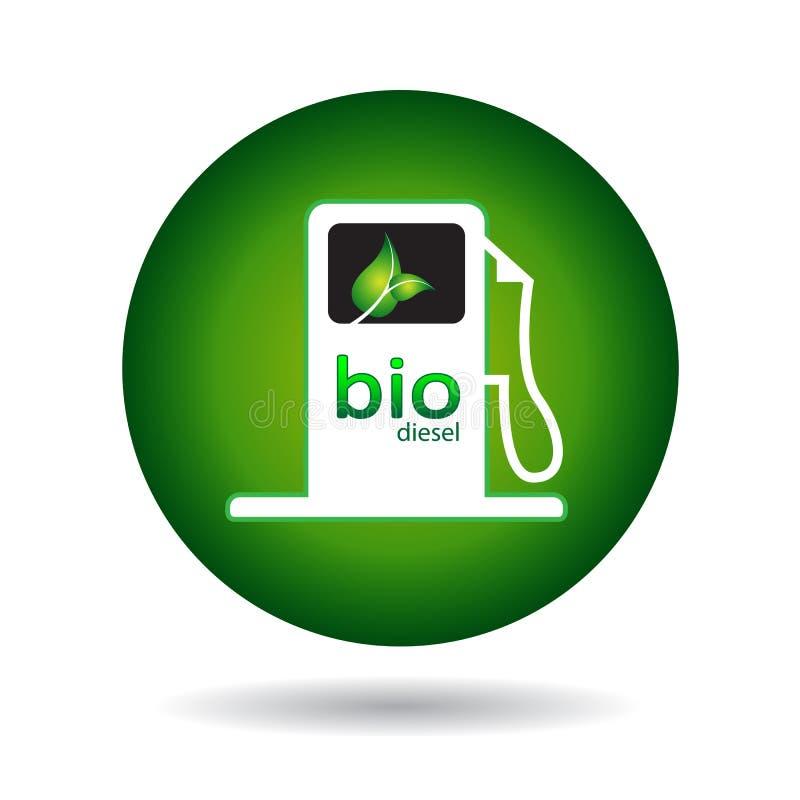 Eco Gaspumpenikone lizenzfreie abbildung