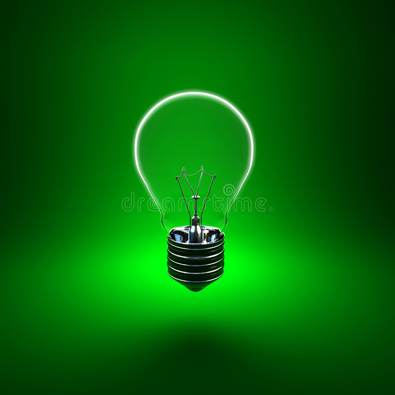Eco Glühlampe stock abbildung