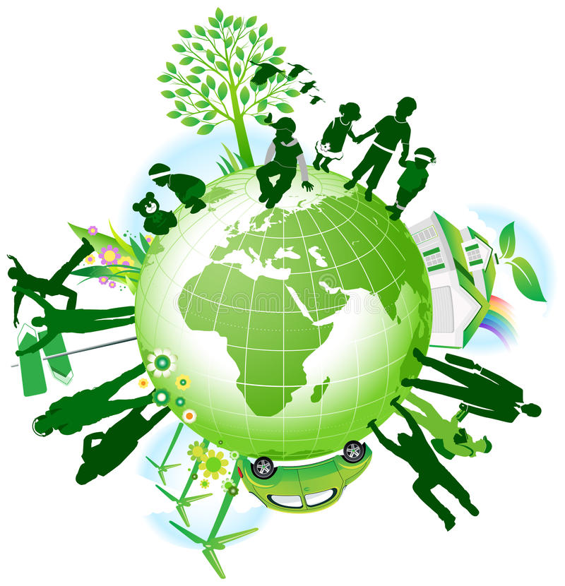 Eco global. illustration de vecteur