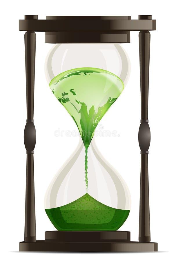 eco godzina zegarek royalty ilustracja