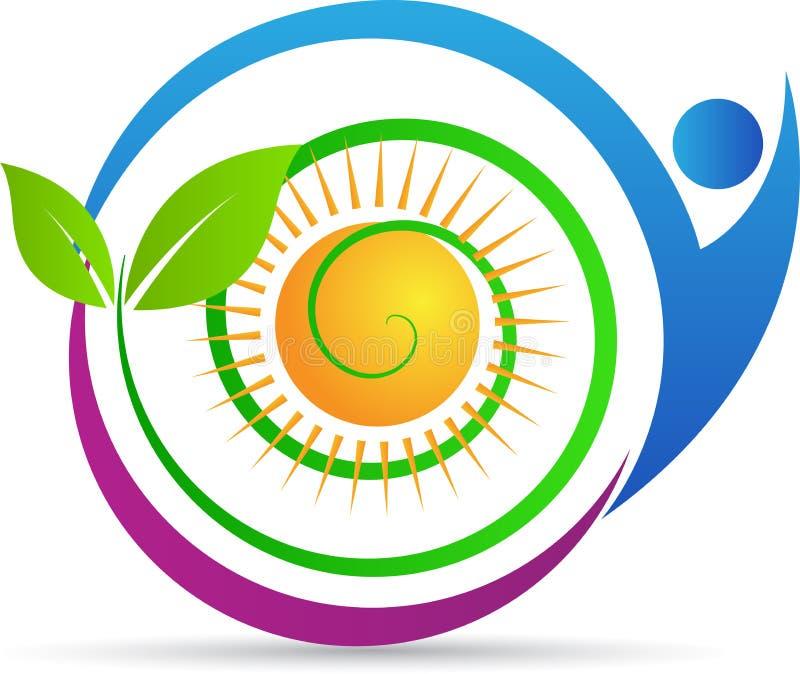 Eco gräsplanomsorg stock illustrationer