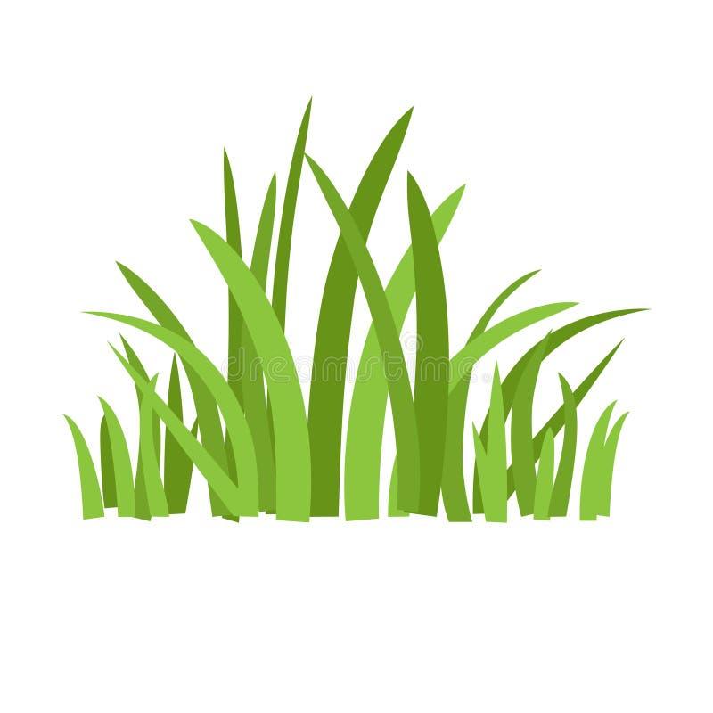 Eco grönt gräs royaltyfri illustrationer