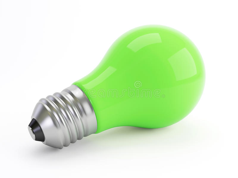 Eco grüne Lampe stock abbildung