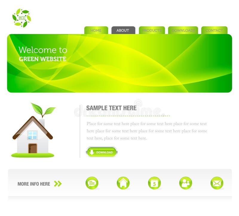 Eco grüne Web site vektor abbildung