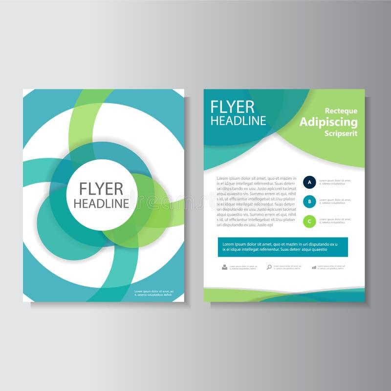 Eco grünen Vektorjahresbericht Broschüren-Broschüren-Fliegerschablonendesign, Bucheinband-Plandesign, abstrakte Darstellungsschab lizenzfreie abbildung
