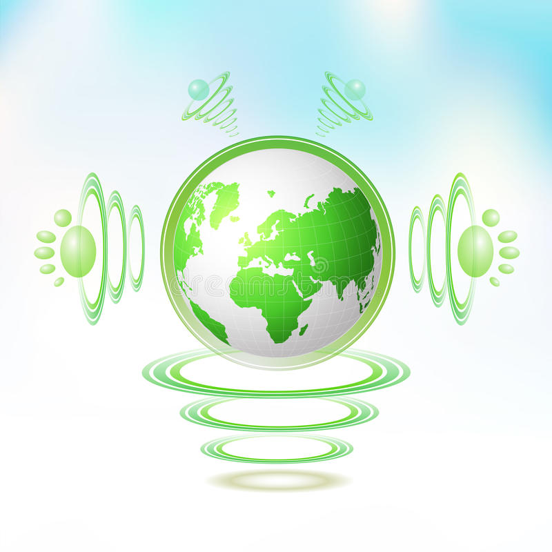 Eco Green Earth stock illustration