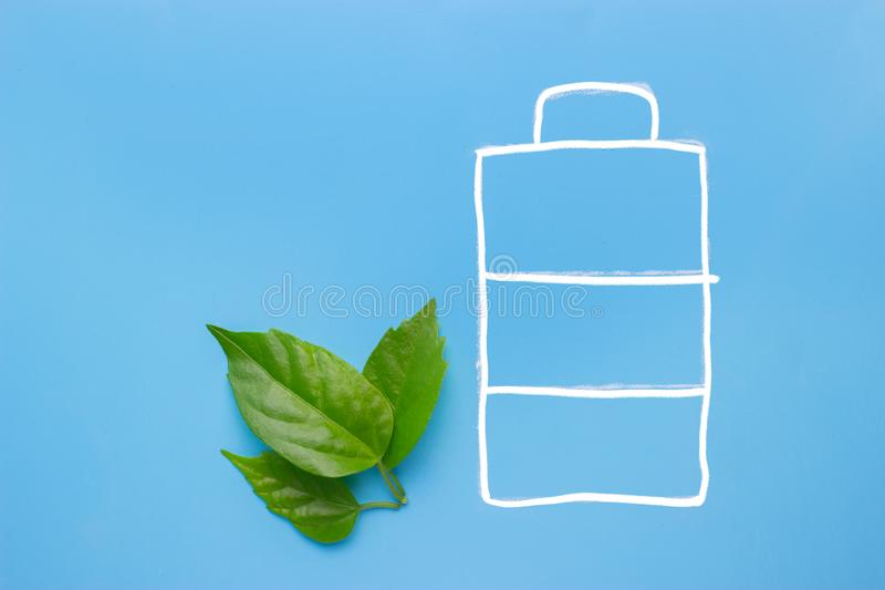 Eco green energy battery royalty free stock photography