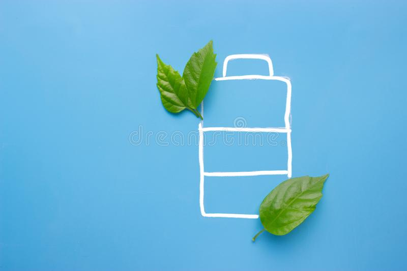 Eco green energy battery royalty free stock images
