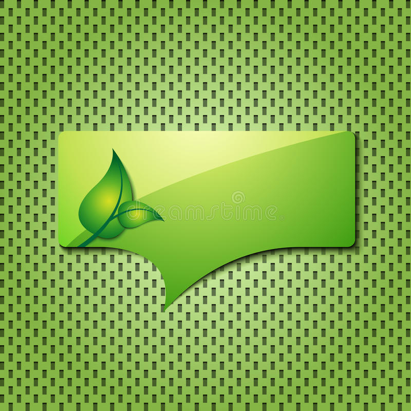 Eco green quote icon stock illustration