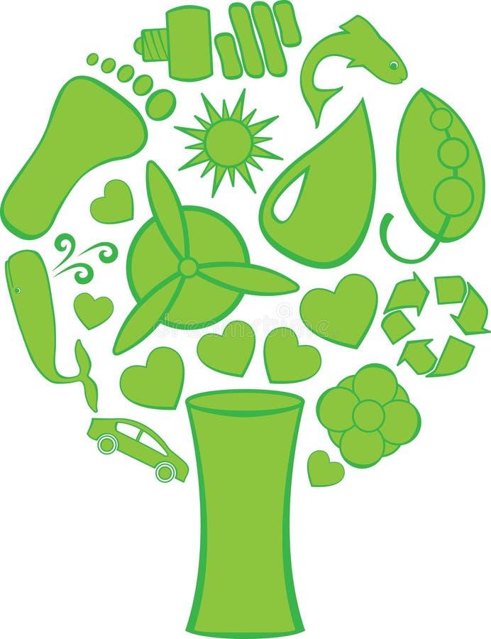 Eco gribouille l'arbre illustration libre de droits