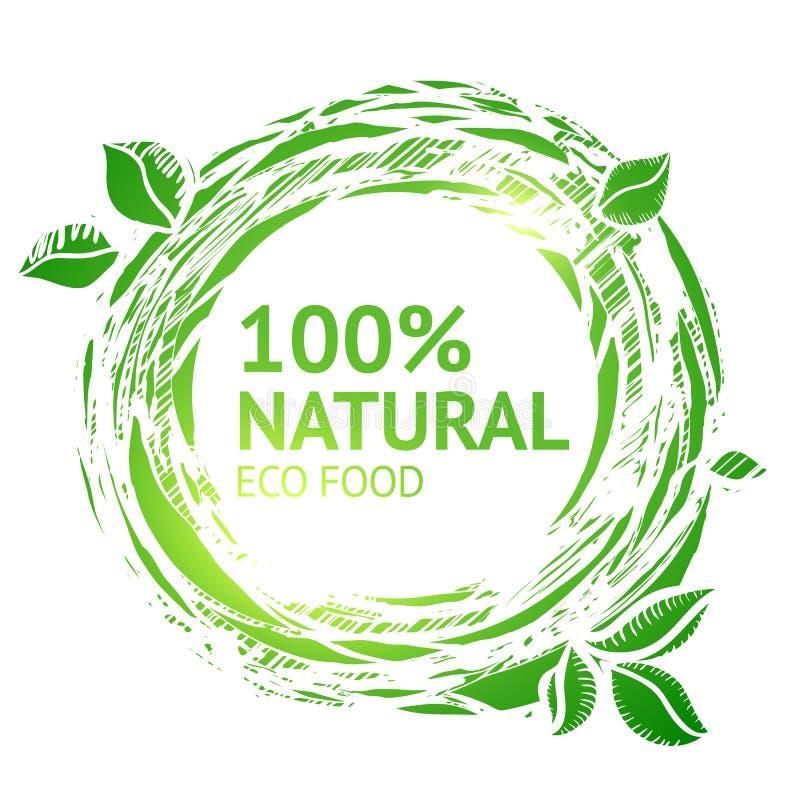 Eco grunge karmowa etykietka ilustracji
