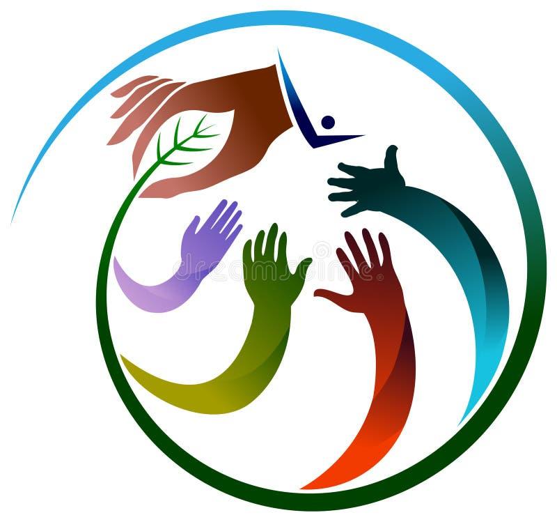 Eco händer vektor illustrationer