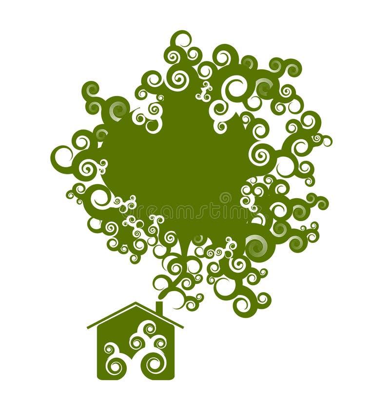 Eco Hausauslegung stock abbildung
