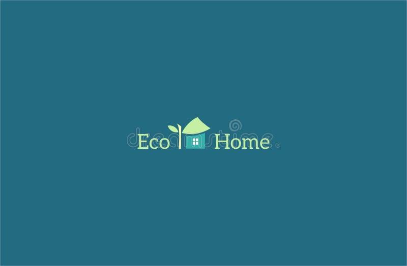 Eco-hauslogoschablone stockfoto