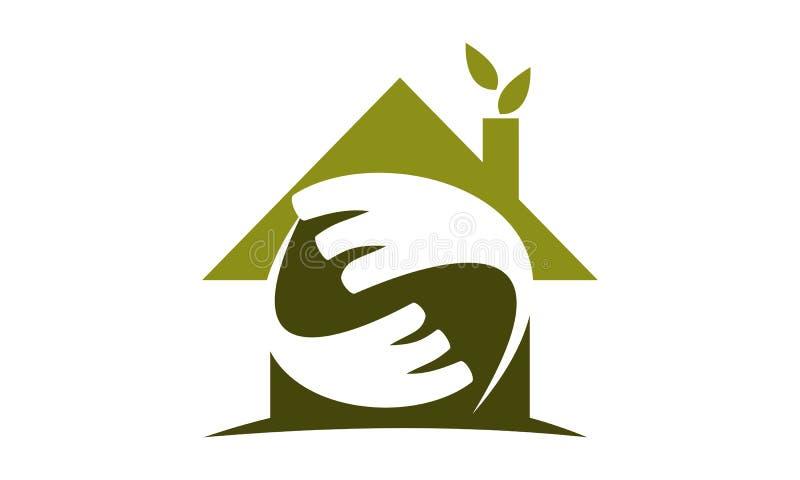 Eco hem Logo Design Template vektor illustrationer