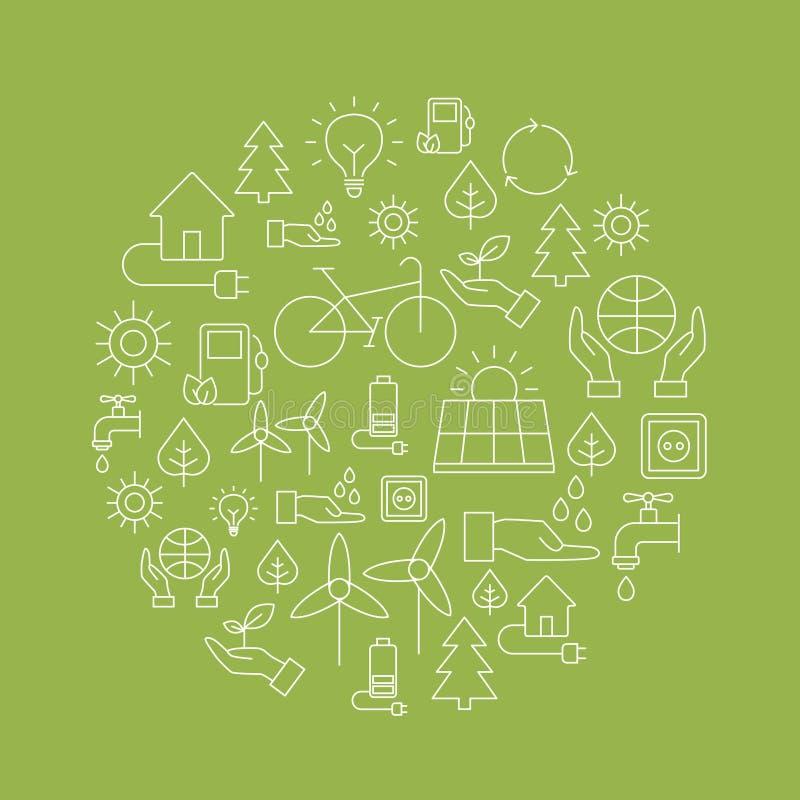 Eco-Hintergrund - Retten des Planeten vektor abbildung