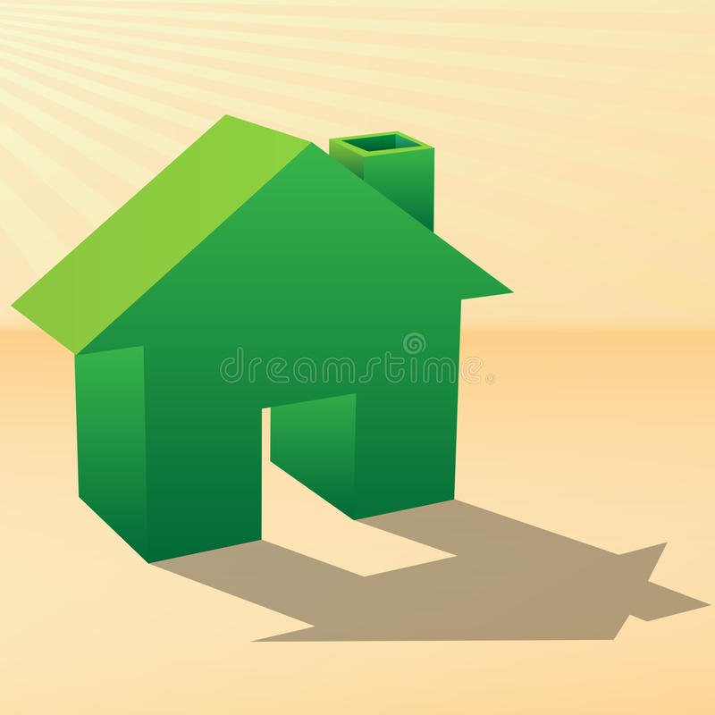 Download Eco home stock vector. Illustration of concept, shadow - 13483765