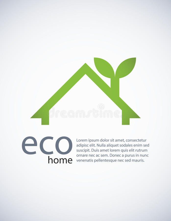 Eco home. Ecology background with a concept of an eco-friandly house, EPS10 royalty free illustration
