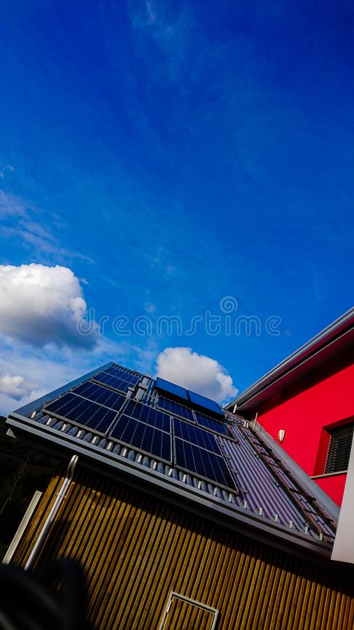 Eco Home Solar Power Cells Energy royalty free stock photos