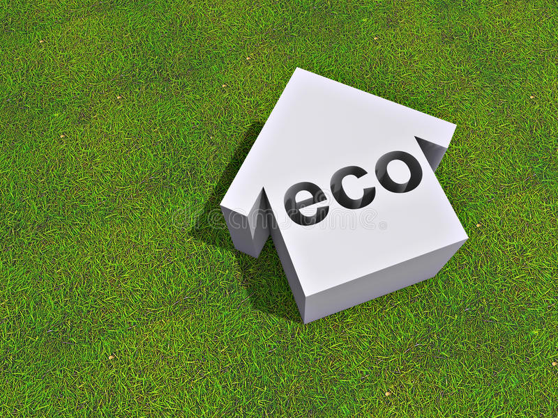 Download Eco house stock illustration. Image of saving, energy - 19136316