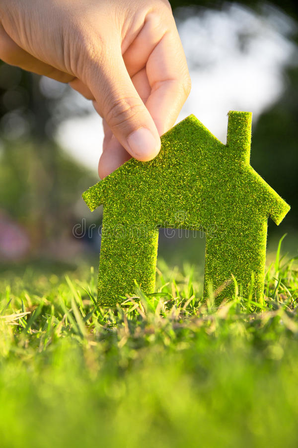 Eco house concept royalty free stock images