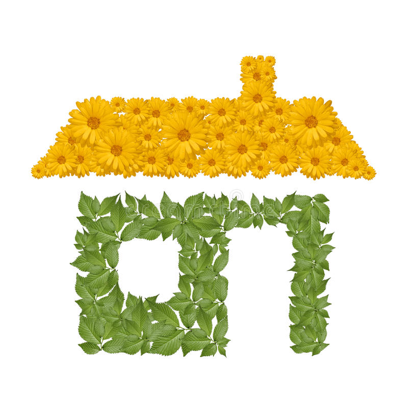 Eco House Icon Royalty Free Stock Photos