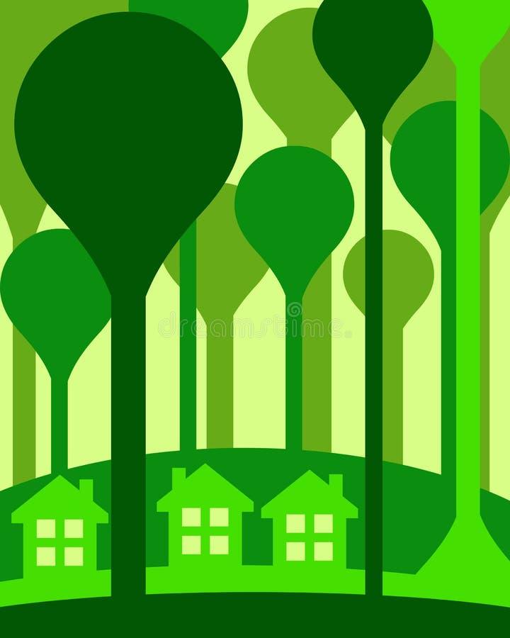 Download Eco houses stock illustration. Illustration of living - 27746048