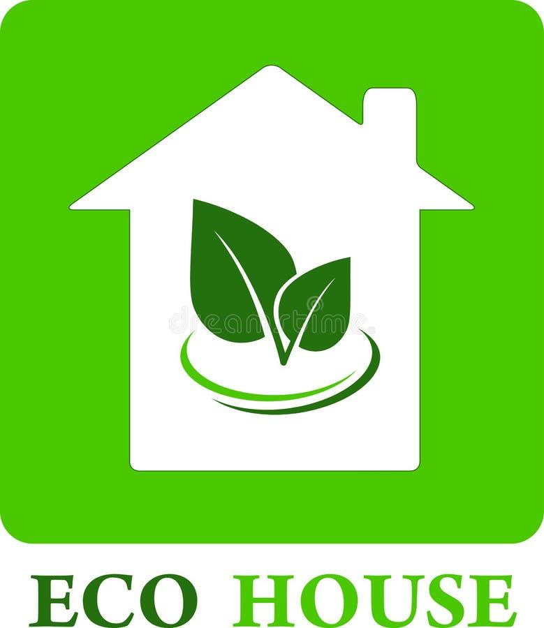 Eco hus royaltyfri illustrationer