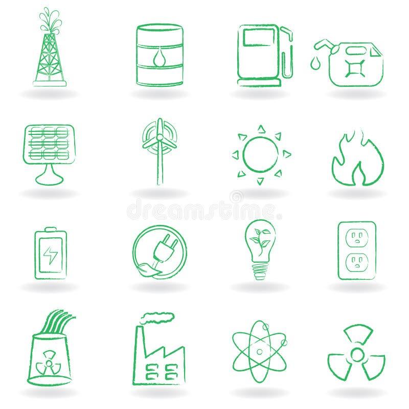 Eco Icon Set Stock Photos