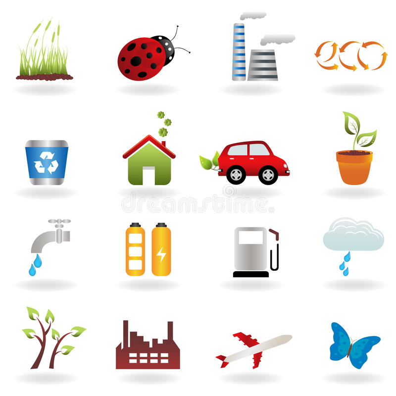 Download Eco icon set stock vector. Image of faucet, background - 18667580