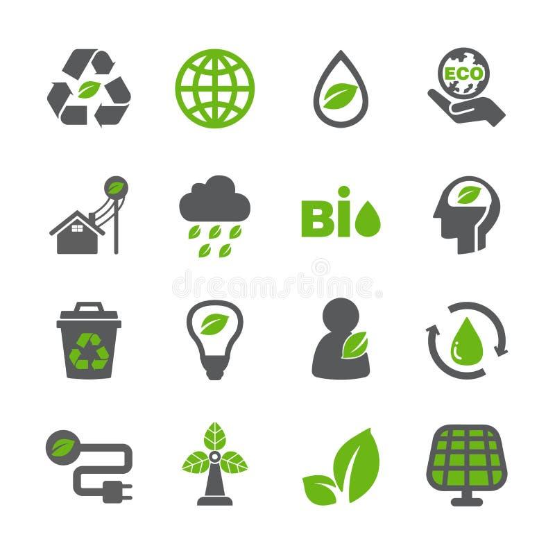 Eco icon set stock images