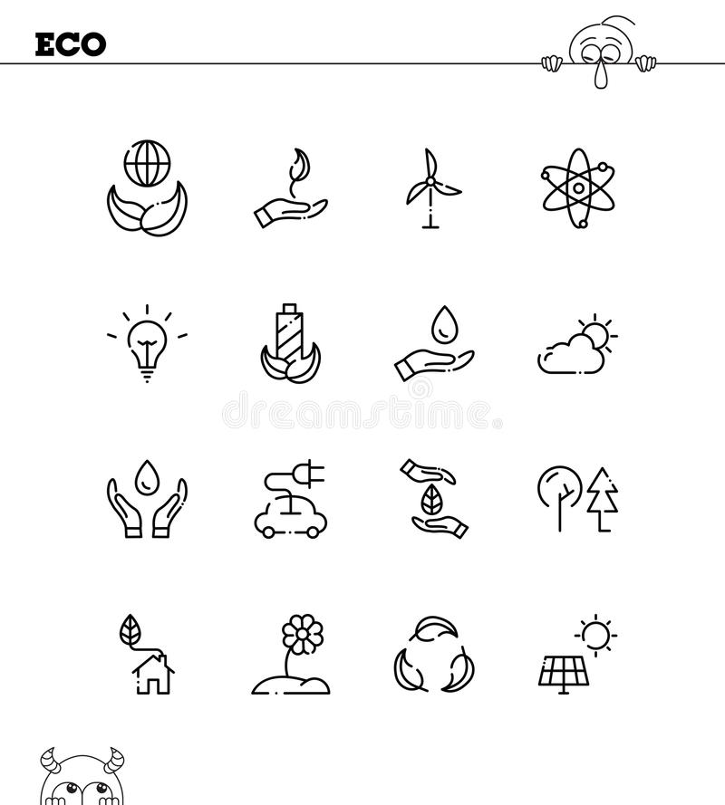 Eco icon set. Eco flat icon set. Collection of high quality outline symbols for web design, mobile app. Eco vector thin line icons or logo vector illustration