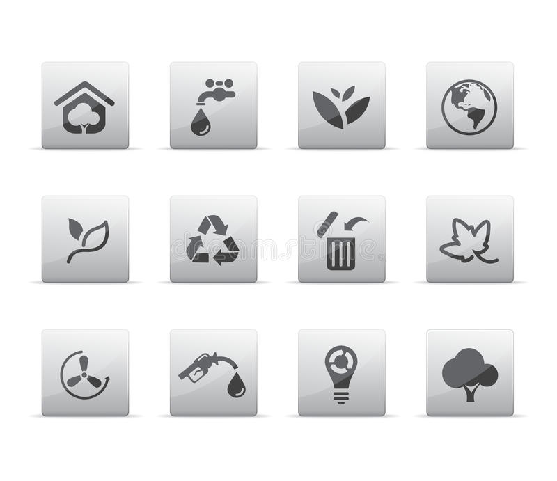 Download Eco icons stock vector. Image of recycle, planet, abstract - 11493770
