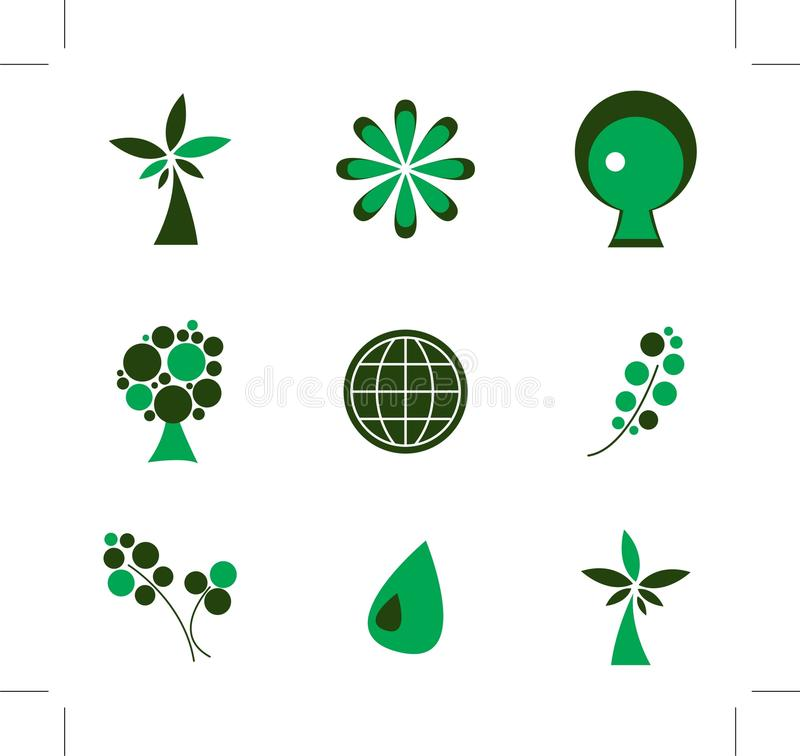 Download Eco icons stock vector. Illustration of recycle, snowflake - 13110730