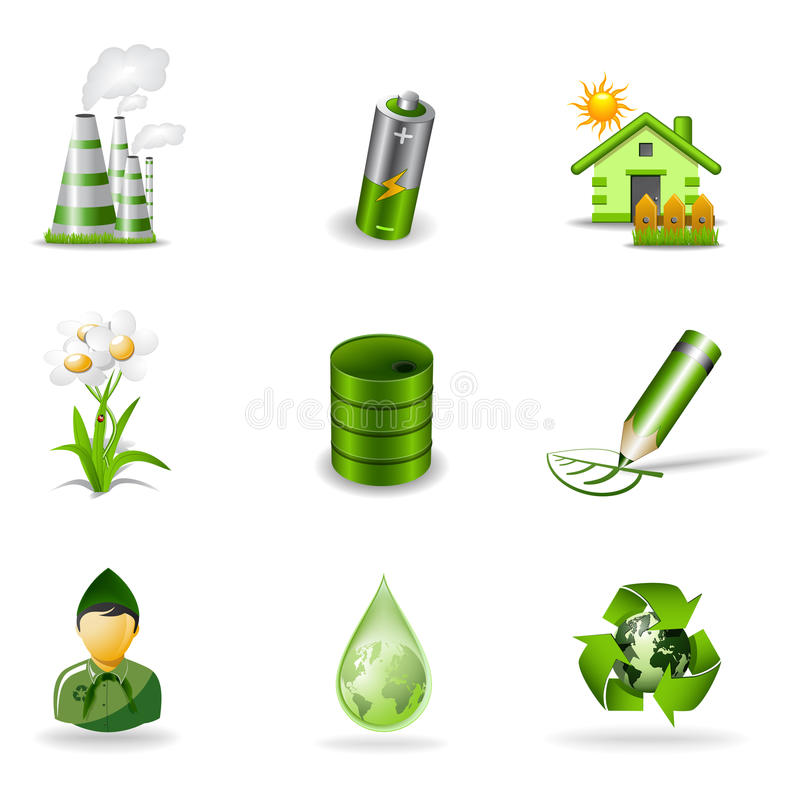 Eco icons 2 vector illustration