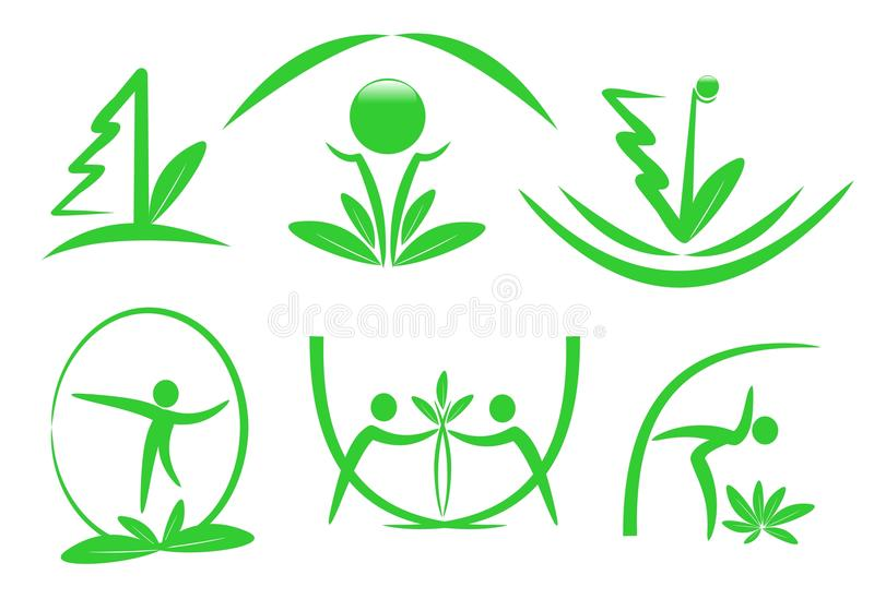 Download Eco icons, cdr vector stock vector. Image of illustration - 22200893