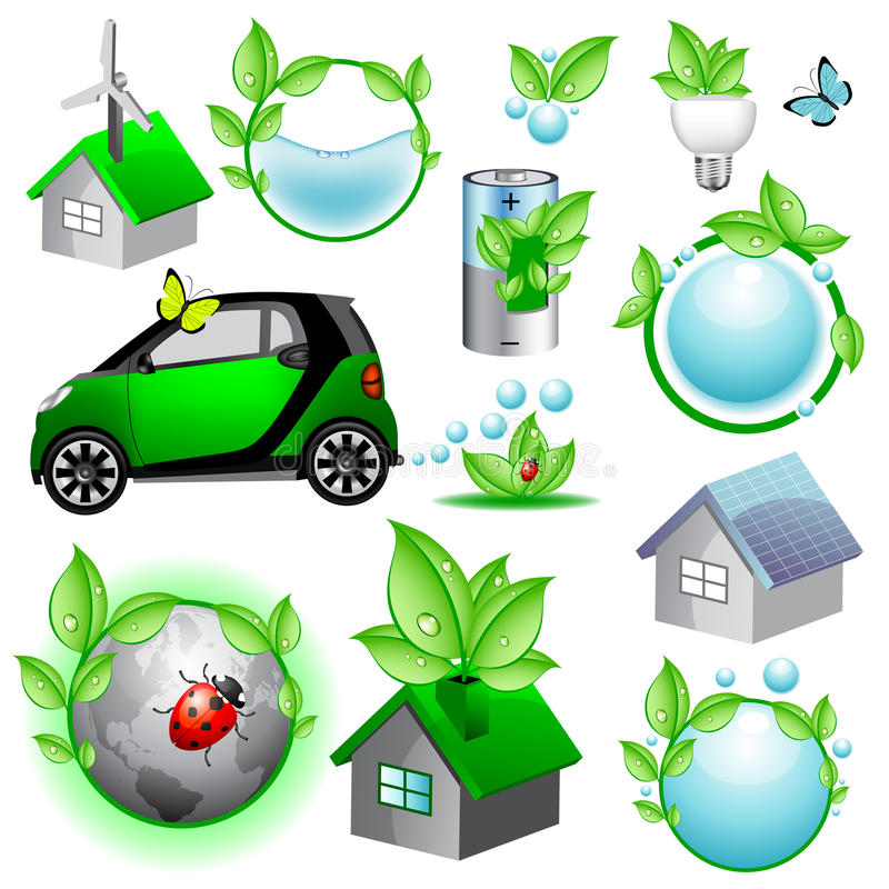 Download Eco Icons And Concepts Collection Stock Vector - Image: 18170439