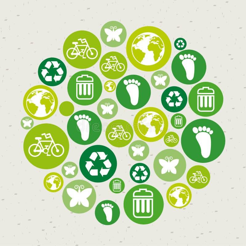 Eco Icons Stock Image