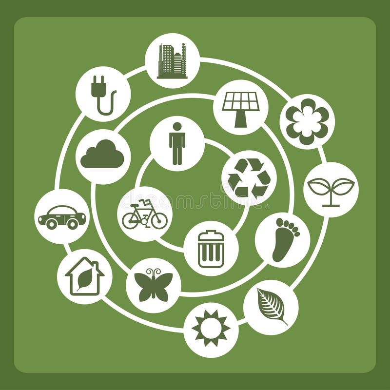 Download Eco icons stock illustration. Illustration of reduce - 33589821
