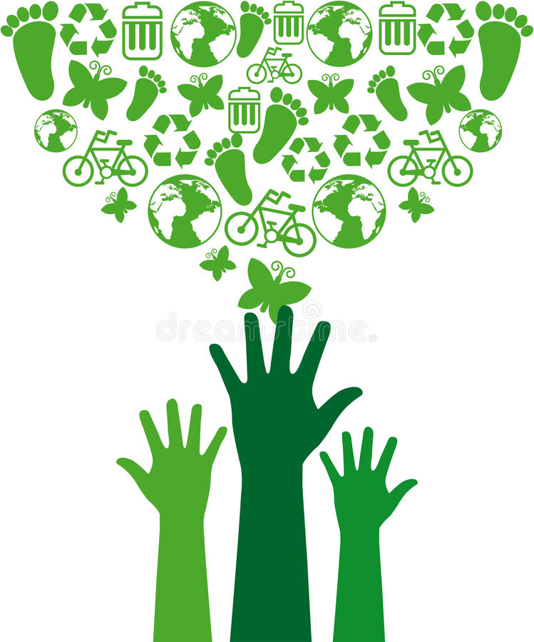 Download Eco icons stock illustration. Image of nature, people - 33589815