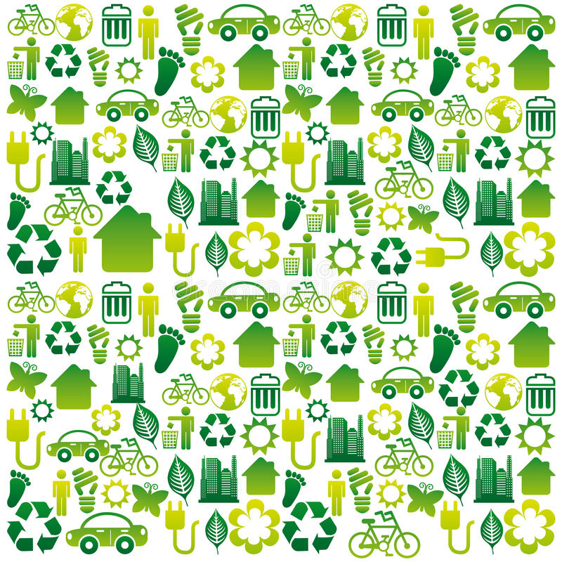 Download Eco icons stock illustration. Image of recycling, energy - 33590561