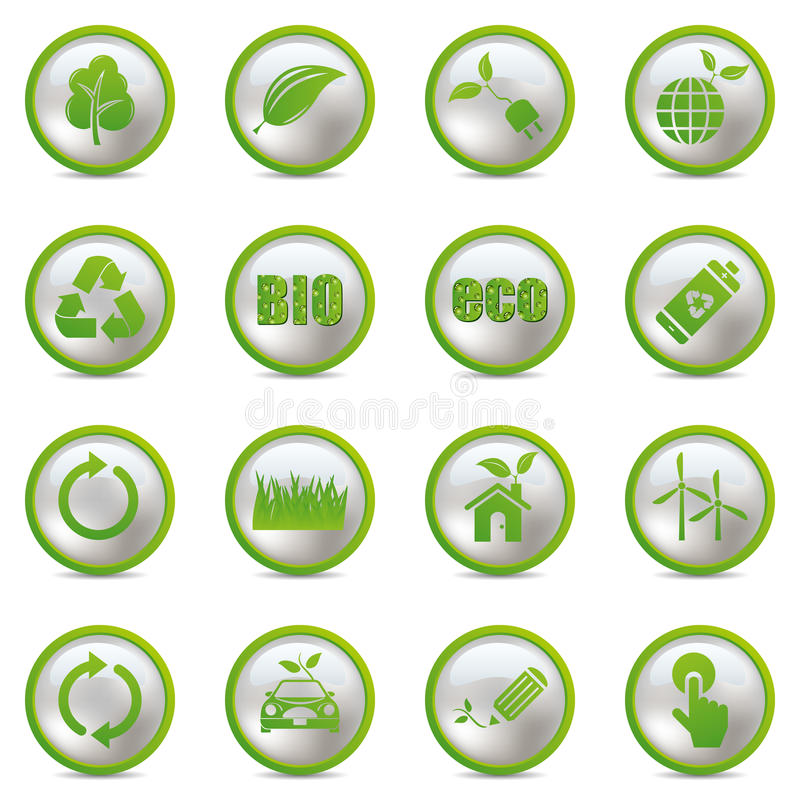 Download Eco icons set stock vector. Image of pointing, recycle - 19065109