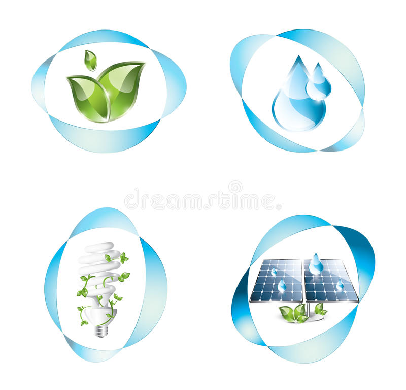 Free Eco Icons Set Royalty Free Stock Photography - 30245597
