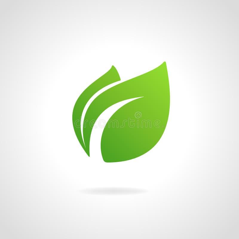 Eco-Ikone lizenzfreie abbildung