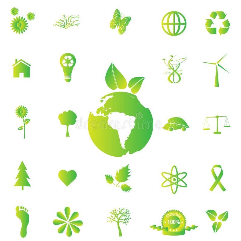 Download Eco ikony ilustracja wektor. Obraz złożonej z konserwacja - 14603623