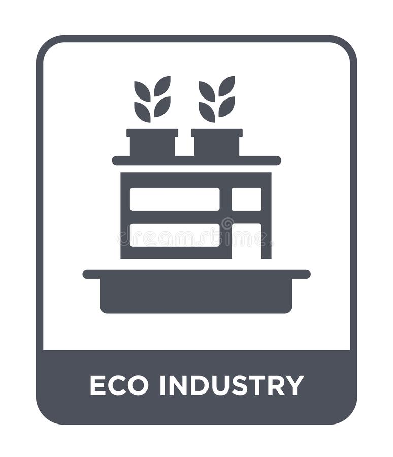 eco industry icon in trendy design style. eco industry icon isolated on white background. eco industry vector icon simple and stock illustration