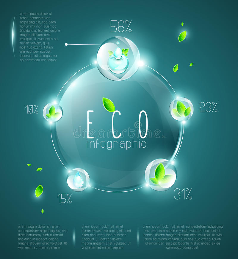 Free Eco Infographic Royalty Free Stock Images - 50357099