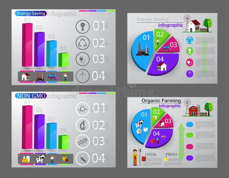Download Eco infographic reeks vector illustratie. Illustratie bestaande uit elektriciteit - 107703648