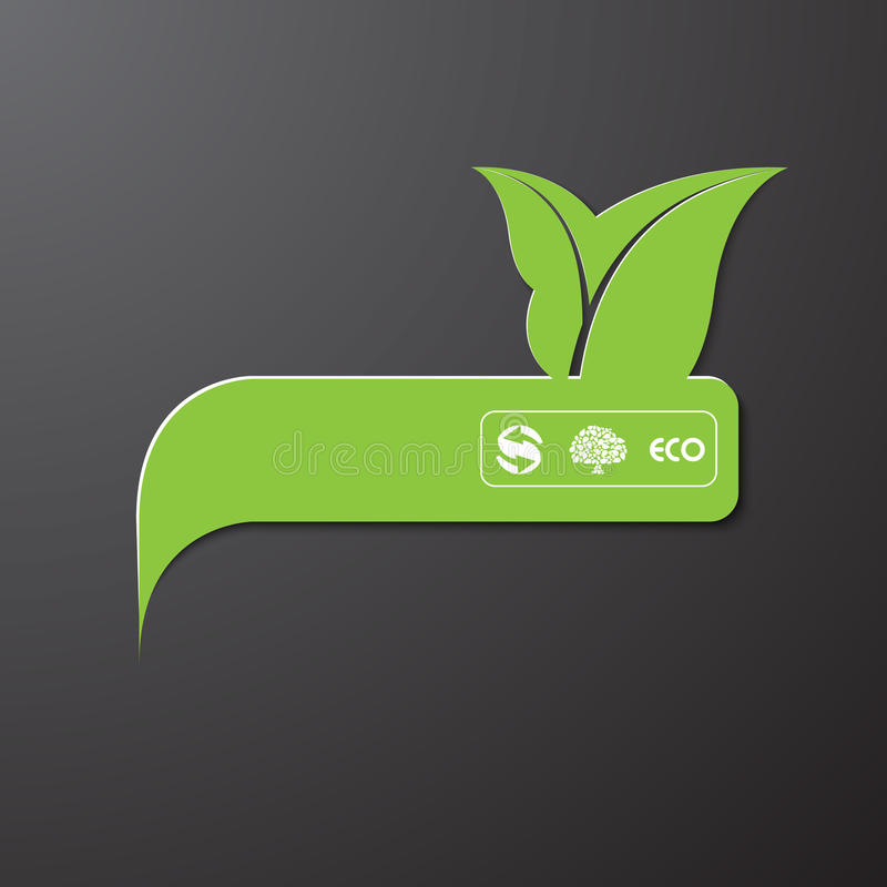 Eco information sign / bubble royalty free illustration