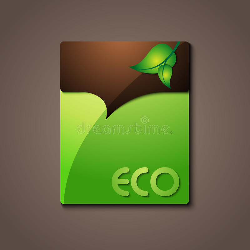 Eco information sign / logo stock illustration